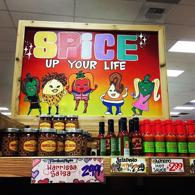 Spice up your life! 🏼#traderjoes #groceryshopping #fun #spicegirls #spices #hot #art #drawing #90s #girlband #funny #salsa #habanero #hotsauce #jalapeno