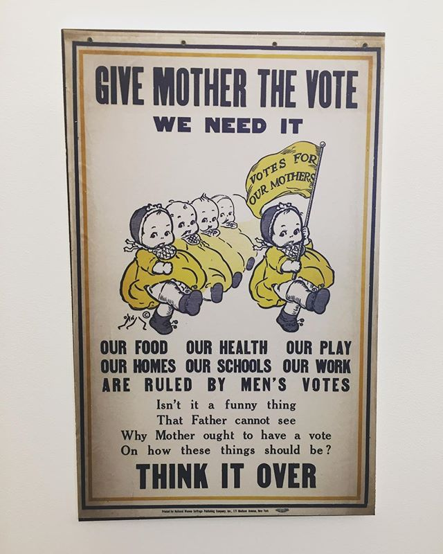 Election Day. Isn't it great that the fathers voted that the mothers can vote!? #100years  #voting #women #vote