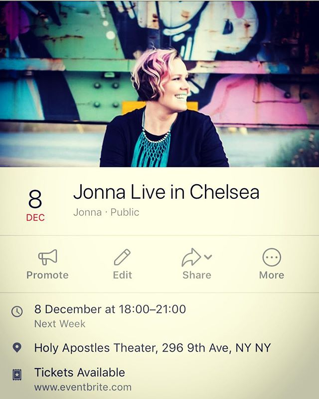 A few more shows this year. Look forward to playing at a Chelsea Fashion & Film charity event next Friday Dec 9th with the amazing @jernejbervar @setnyc @freedom_ladder #performance #indieartist #groovy #soulful #indiepop #acoustic #live #ilovetosing #grateful #thankful #musicians #help #nyc #chelsea #fashion #film #filmscreening #charity #filmmakers #womeninfilm #music