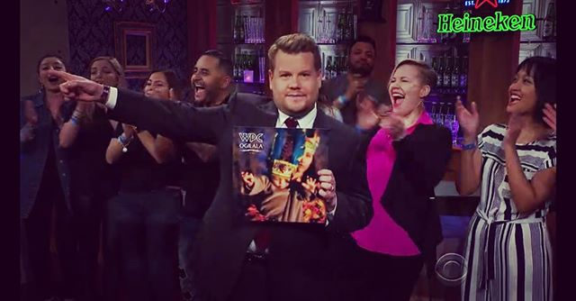 You never know what will happen at these tv show tapings. At this one I got to briefly connect with @j_corden before this take, shake hands with @reggiewatts and win this t-shirt for my dance moves  before the show. @nbc @thelatelateshowwithjamescorden