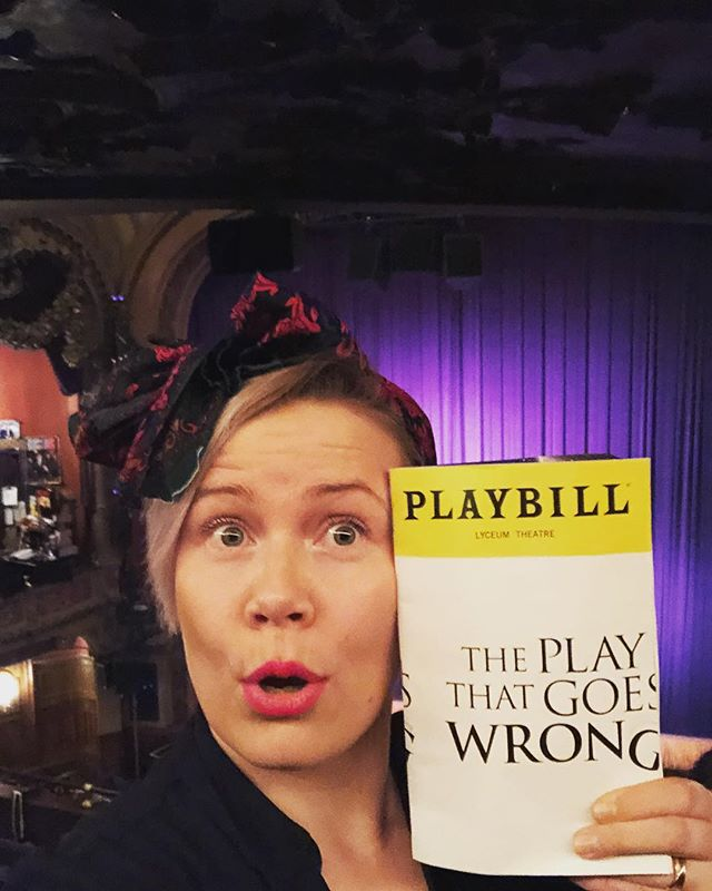 Broadway  #whatcouldpossiblygowrong #tragicomedy #comedy #nyc #entertainment #lol #laugh #enjoy #joy #disaster #play #broadwayplay #broadwayshow #broadway #timessquare #nyclife #theater #theatre #acting #actors #theplaythatgoeswrong #headscarf #scarf #singersongwriter #singer #performance #performer