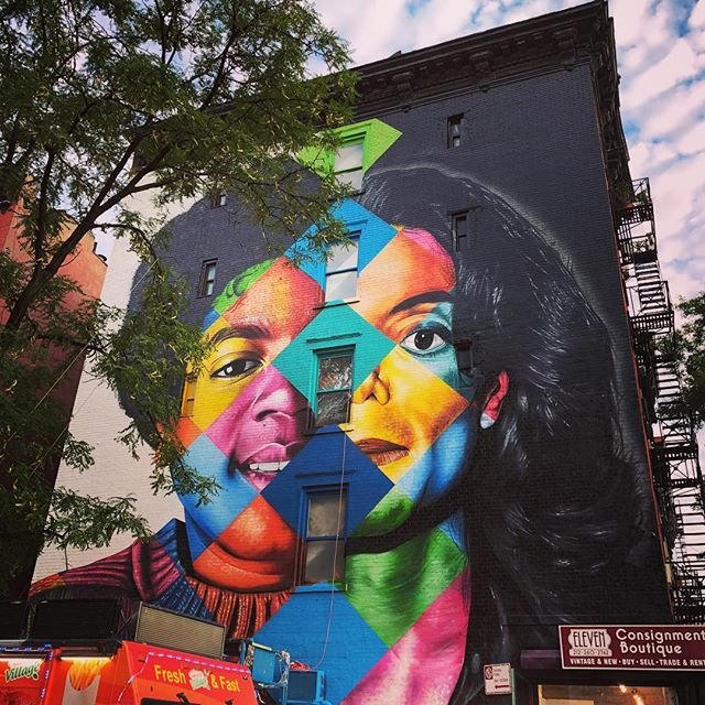 Some awesome art in the East Village. #michaeljackson #rip #past #life #ilovenyc #mural #streetart #mj #nyc #newyorkcity #newyorknewyork #eastvillage #art #beautiful #colorful #colors #iloveart
