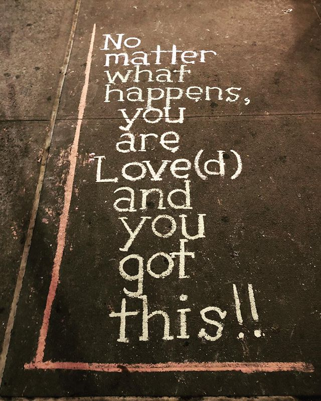 #streetsofnyc #encouragement #uplift #positivity #love #yougotthis #believeinyourself #confidence #loveyourself #youareloved #highfive #chalk