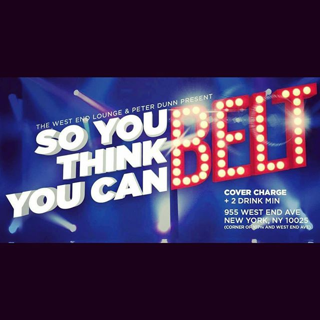 """If you're in NYC tomorrow (Monday November 26th) come support me in the semifinals of """"So you think you can belt?"""" on the Upper West Side of Manhattan. Doors open at 8.30pm. Show starts at 9pm.Cover charge $5 before the show starts, $9 after it starts. AND you get double the amount of """"vote vouchers"""" if you get there before 9pm.#voice #competition #music #performance #livemusic #nyc #uws #upperwestside #soyouthinkyoucanbelt"""