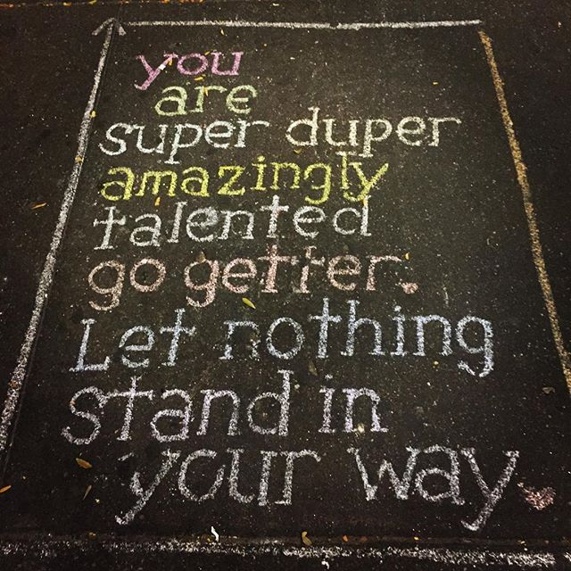 Inspiration on the pavement. #beinspired #letyourlightshine #motivation #encouragement #uplift #setgoals #gogetter #talent #nyc #myhoods #myneighbourhood #sidewalk #manhattan #youareamazing
